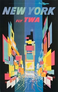 new york/fly twa (by david) by posters: aviation