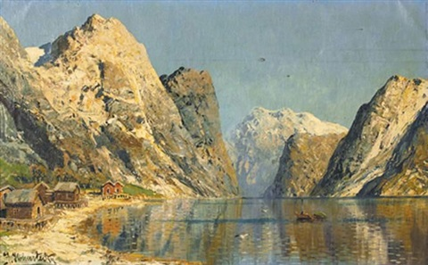 a sunlit fjord by joseph holmstedt