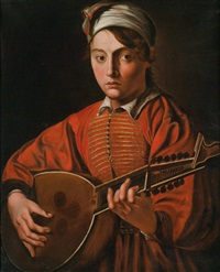 ein junger mann mit seiner laute by michelangelo merisi da caravaggio
