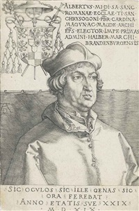 cardinal albrecht of brandenburg (the small cardinal) by albrecht dürer