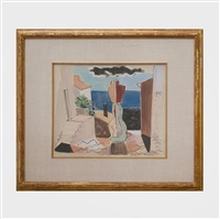 Cubist Street Scene, St. Tropez, 1934