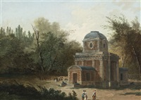 project for the pavillon de clèves of maupertuis by hubert robert