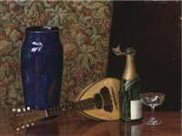 champagne still life by maria andreasen
