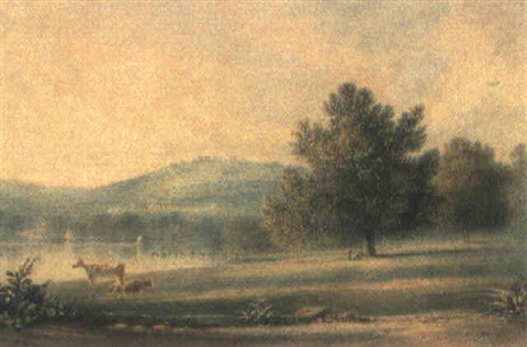 kissing point from concord morning 1846 by henry curzon allport