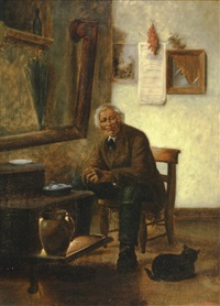 portrait of a seated man by charles armor