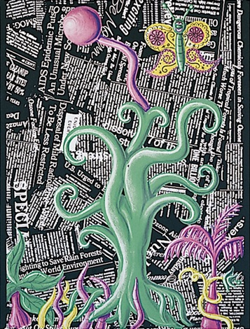 untitled from the columbus portfolio by kenny scharf