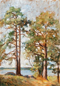 pine trees on the strand by axel haartman