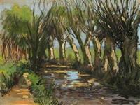rivière en normandie by bernard raoul lachevre