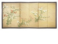 a six-fold screen by anonymous-japanese (edo period)
