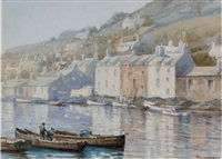 old houses at polperro by tom campbell
