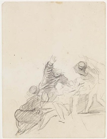 john howard visiting a lazaretto double sided by george romney