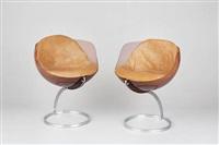 paar stühle sphère (pair) by boris tabakoff
