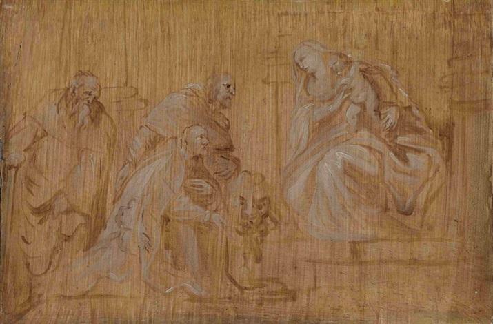 maria mit kind und drei heiligen by sir anthony van dyck