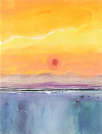 blue seascape divided sky by donald hamilton fraser