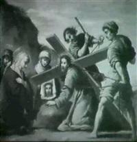 la flagellazione & cristo nel giardino &   cristo cade sotto la croce & trasfigurazione by sebastiano filippi the younger