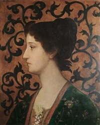 portrait of a woman in profile by attilio baccani