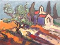 paysage provençal by jean yves blécon
