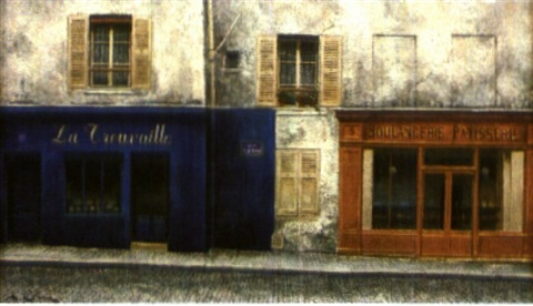 la rue norvins à paris by andré renoux