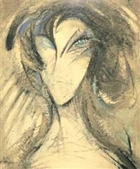 portrait féminin by michel sanzianu