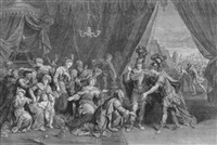 die familie des darius vor alexander die grosse by gérard edelinck