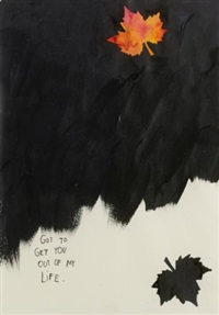 untitled (got to get you out of my life) (+ untitled, crayon on paper, smllr; 2 works) by friedrich kunath