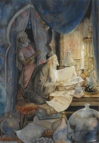 the 27st night, the story of the jewish doctor by anton pieck