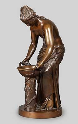 badende mit schale by benedetto boschetti