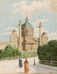 karlskirche in wien by karl (anton karl) zach