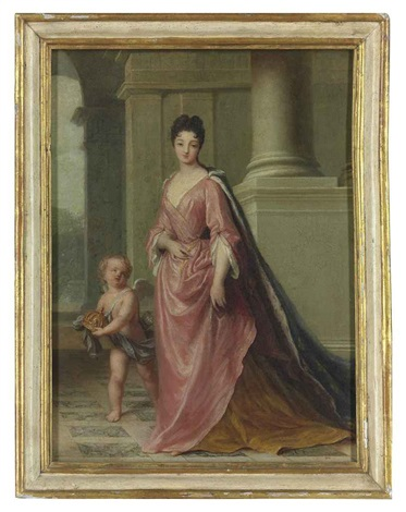 portrait of marie adélaïde princesse de savoie duchesse de bourgogne subsequently dauphine de france 1685 1712 and mother of the future king by jean baptiste santerre