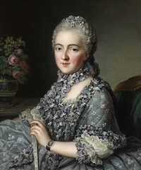 bildnis einer dame der pompadour-zeit by guillaume voiriot