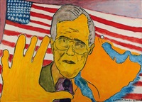 portrait de w. bush-sénior by réal lessard