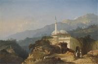 une mosquée dans les montagnes by théophile victor emile lemmens