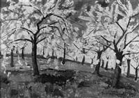 blühende kirschbäume by eugen nell