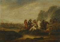 a battle scene by abraham van der hoef