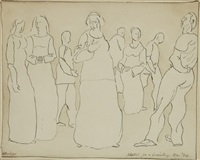 a family (sketch) by horace asher brodzky