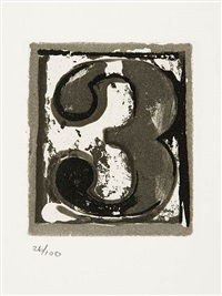 3 (from 10 numerals) by jasper johns