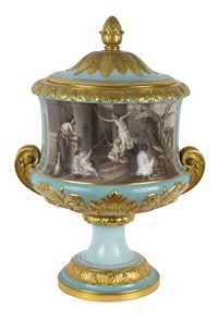 a pair of russian imperial crater vases by august karlovich spiess