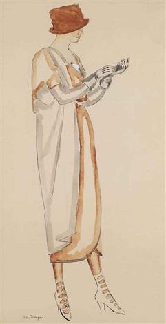 portrait dune modèle by kees van dongen