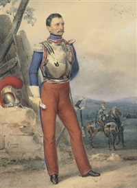 officier de cavalerie by paul gomien