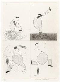 he tore himself in two (1969) by david hockney