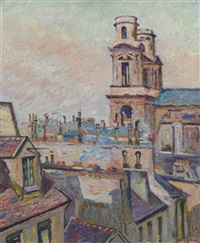 l'eglise saint-sulpice à paris by armand guillaumin