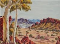 macdonnell ranges by oscar namatjira