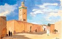 mosquée à el-kelaa, maroc by pierre lissac