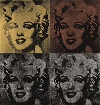 not warhol, 4 marilyn's (in 4 parts) by mike bidlo