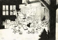 catastrophes au pays du père noël (recto/verso) by frank le gall
