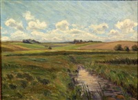 running stream, open pasture by jensenius jacobsen