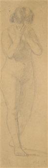 nudo di donna piangente (studio per eva) by filadelfo simi
