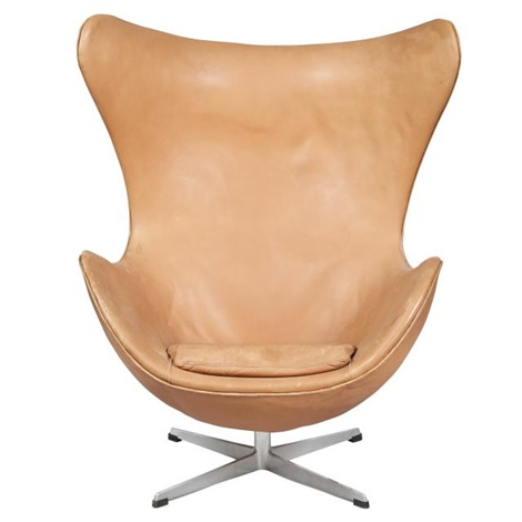 Prime Arne Jacobsen Leather Upholstered Egg Chair By Arne Jacobsen Pabps2019 Chair Design Images Pabps2019Com