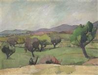 landschaft mit olivenbäumen by walter alfred rosam