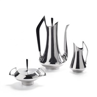 coffee service from the circa 70s series (set of 3) by donald colflesh